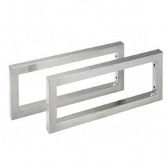 Laqua Wastafelblad ophangbeugels Modello form RVS Mat, 48cm per 2 stuks