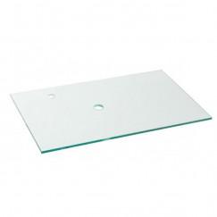 Laqua Wastafelblad gehard glas Modello form due 80x50cm