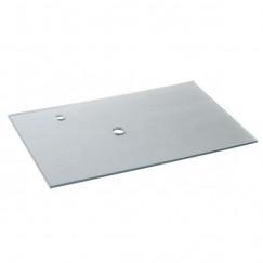 Laqua Wastafelblad 50x80cm Modello form due in zilver gehard glas