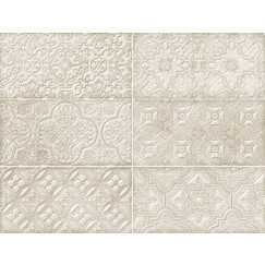 Wandtegels dante ivory decor 12x24