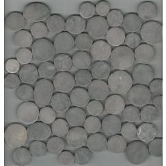 Mozaiek coinstone donker-grijs 29,4x29,4