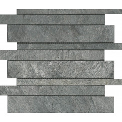 Priggo Mozaiek silver grey interlock quartzite 30.0x30.0x1.0