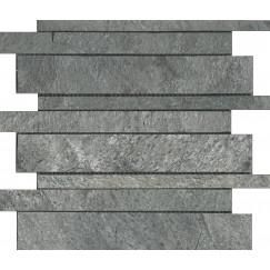 Mozaiek silver grey interlock quartzite 30,0x30,0x1,0cm