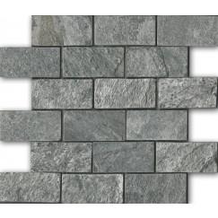 Priggo Mozaiek Silver Grey Mosaic Quartzite 5,0x10,0x1,0