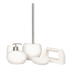 L'aquaBadkamer-/toiletaccessoiresset Pebble 5-delige wit keramiek