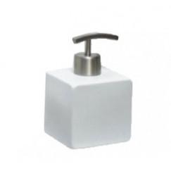 Laqua Square zeep dispenser keramiek mat wit