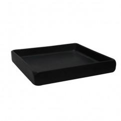 L'aqua Square zeepschaal keramiek mat zwart