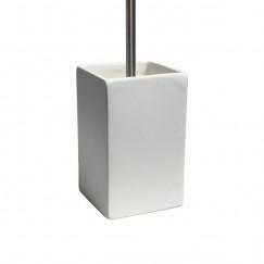 Laqua Square toiletborstelhouder keramiek mat wit