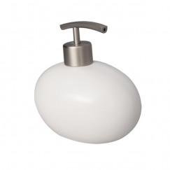 Diverse pebble zeep dispenser ker,mat wit