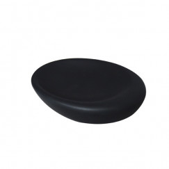 L'aquaPebble zeepschaal keramiek mat zwart