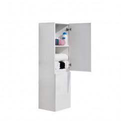 L'Aqua Kolomkast Slimline wit - 35x130 cm - 2 deuren