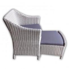 Loungeset stoel wicker met voetenbank 62x67x80cm