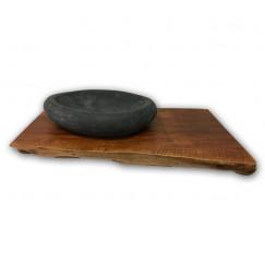 Wastafelbladen wastafelblad suar hout 100x50 h10/8cm