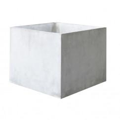 Plantenbakken plantenbak beton vierkant lichtgrijs 35x35x31