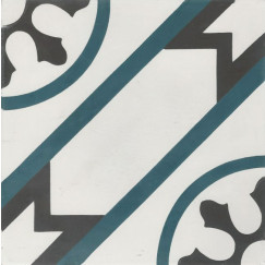Cementtegels kashba blu rondo 20x20