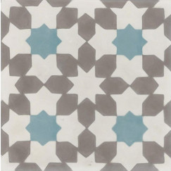 Kashba Marrakesch cementtegel Grey Star 20x20