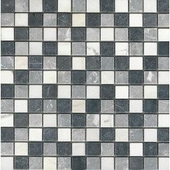 Mozaiek grey/white/black 30x30x1 chip 23x23mm