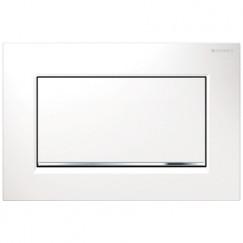 Geberit Sigma 30 bed.plaat kleuren: plaat-strip-knop wit-chr.-wit Wit Chroom Wit 115.893.KJ.1