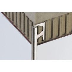 Schluter Rondec tegelprofiel aluminium mat 10mm 300cm Bruut Mat RO100AE/300