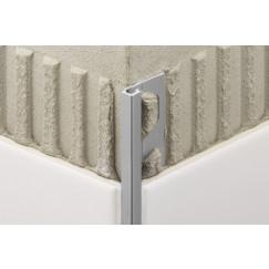 Schluter Quadec tegelprofiel bi/buhoek aluminium mat 10mm Bruut Mat EV/Q100AE