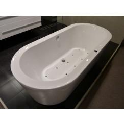 Novio Varano systeembad vrijst. 180x80x59 injec.lucht pl10 wit Wit