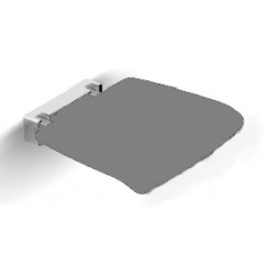 Novio Umea zitje tip-up ral7021(mx.160kg.)opgekl.4 grijs-antr Chroom Grijs