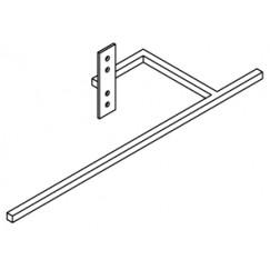 Vasco Beams aluminium beugel 440mm. wit s600 Wit S600 118370100000600