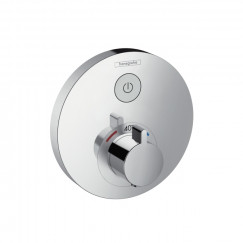 Hansgrohe Showerselect s afdekset thermostaat met 1 stopfunctie chroom Chroom 15744000