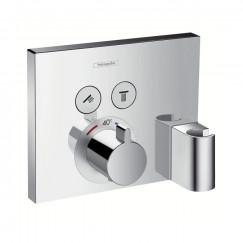 Hansgrohe Showerselect afdekset thermostaat met 2 douchefuncties chroom Chroom 15765000
