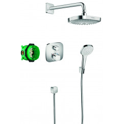 Hansgrohe Croma Select E showerset compleet m/ecostat e thermostaat chroom Chroom 27294000