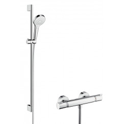 Hansgrohe Croma Select S glijstangset 90cm chroom Chroom 27014400
