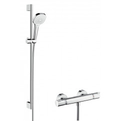 Hansgrohe Croma Select E vario glijstangset 90m/ecostat comfort therm. chr. Chroom 27082400
