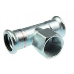 """Vsh Xpress t-stuk 35x1/2""""bi.x35 pers c1418 staalverzinkt Staal Verzinkt 6202856"""