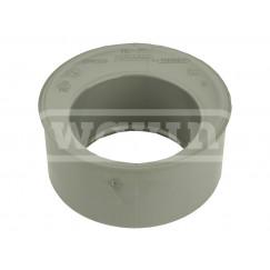 Wavin Wadal inzet verloopstuk centrisch 40x32 mm. Pvc 3104204030
