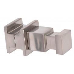 Novio Apollo S haak voor radiator m/vierkante buizen 2x6 cm. rvs Rvs