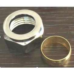 """Guo Metis knelkoppeling 15x1/2"""" v/radiator aansluitset chr. Chroom"""
