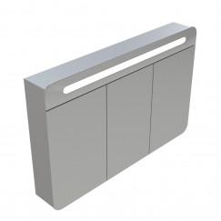 Novio Please It Round spiegelkast 100 cm. met led verlichting zilver Zilver
