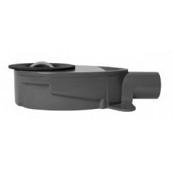 Easydrain  sifon ondiep v/xs nano modellen 28 mm. waterslot Zwart SPANAN01