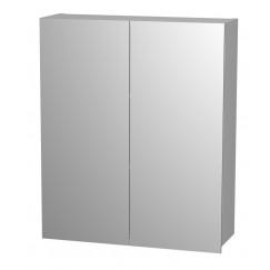 Novio Matteo spiegelkast 80 cm. met 2 deuren grijs Grijs
