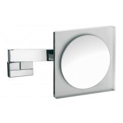 Emco Asis scheerspiegel vierkant 22cm led licht x5 chroom Chroom 109606004