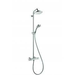 Hansgrohe Croma showerset eco met thermostaat chroom Chroom 27188000