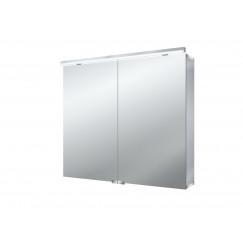 Emco Asis Pure spiegelkast 80cm 2 deuren led aluminium Aluminium 979705082