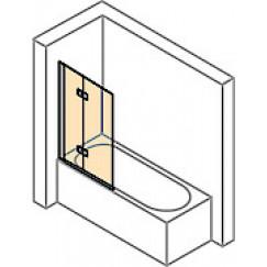 Huppe Design Pure badklapwand 2-delig li.120x150cm helder mat zilver Mat Zilver 8P2302087321