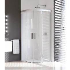 Huppe Design Pure deur kwartrond 90x190cm r50 helder mat zilver Mat Zilver 8P3002087321