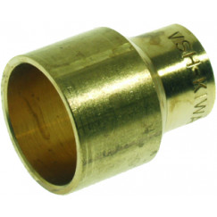 Vsh C1001 verloopsok 15x12 mm. cap. messing Messing 0400323
