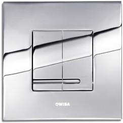 Wisa Delos bedieningsplaat dualflush kunststof Chroom 8050415651