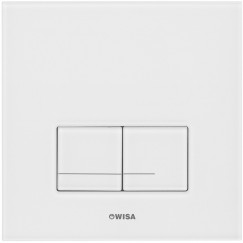 Wisa Xs delos glazen bedieningsplaat dualflush wit Wit 8050420201