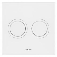 Wisa Luga glazen bedieningsplaat dualflush wit Wit 8050419801