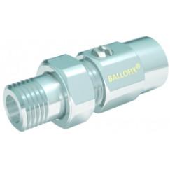 "Vsh Ballofix radiator voetventiel recht 1/2"" bi.xbu. messing Messing 6001457"