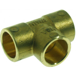 Vsh C1020 t-stuk 12 mm capillair messing Messing 0430023
